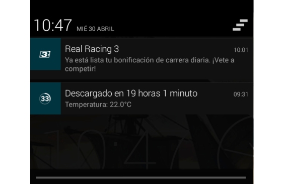 Advergame World - Aleix Risco - Real Racing 3 - Notificación