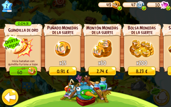 Advergame World - Aleix Risco - Angry Birds - Virtual Currency - Dinero Virtual