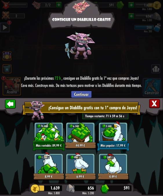 Advergame World - Aleix Risco - Advergame - Dungeon Keeper - Diablillo Extra