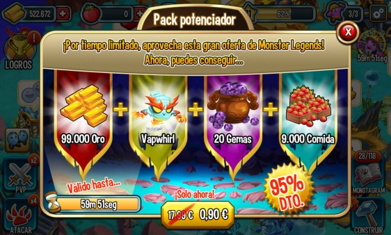 Advergame World - Aleix Risco - Advergame - Social Point - Monster Legends - Monetización - Promoción Vapwhirl III