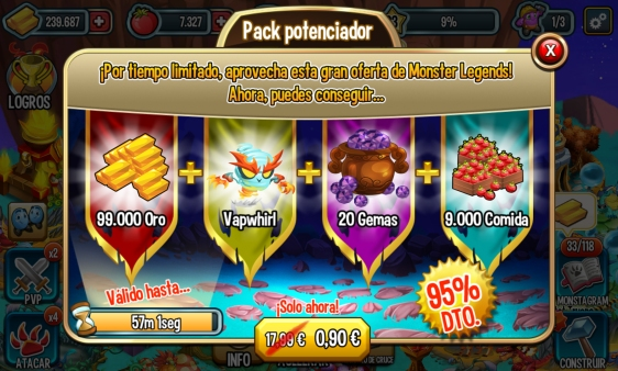 Advergame World - Aleix Risco - Advergame - Social Point - Monster Legends - Monetización - Promoción Vapwhirl IV