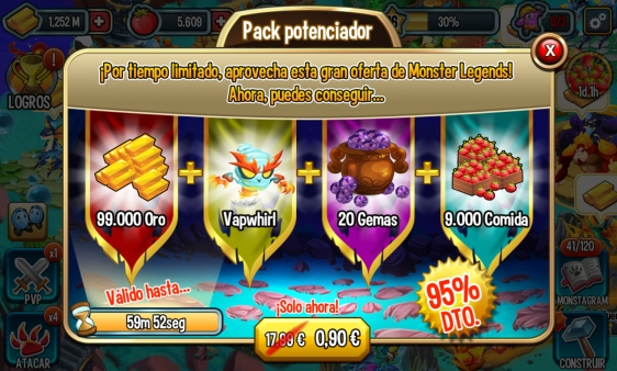 Advergame World - Aleix Risco - Advergame - Social Point - Monster Legends - Monetización - Promoción Vapwhirl VI