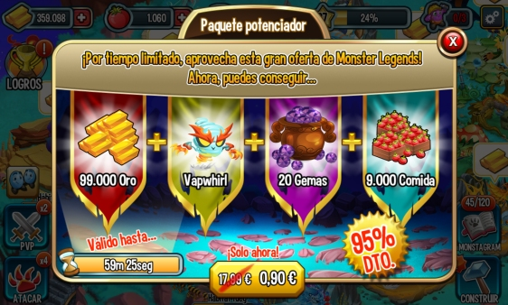 Advergame World - Aleix Risco - Advergame - Social Point - Monster Legends - Monetización - Promoción Vapwhirl VII