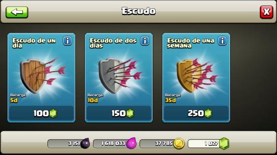 Advergame World - Aleix Risco - Monetización - Clash of Clans - Escudo