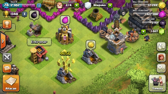 Advergame World - Aleix Risco - Monetización - Clash of Clans - Recojer Recursos