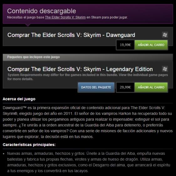 Advergame World - Aleix Risco - Monetización - DLC - Aumentar frecuencia de compra - Elder Scrolls V - Skyrim