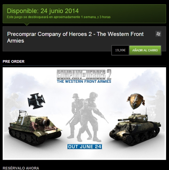 Advergame World - Aleix Risco - Monetización - DLC - Company of Heroes 2