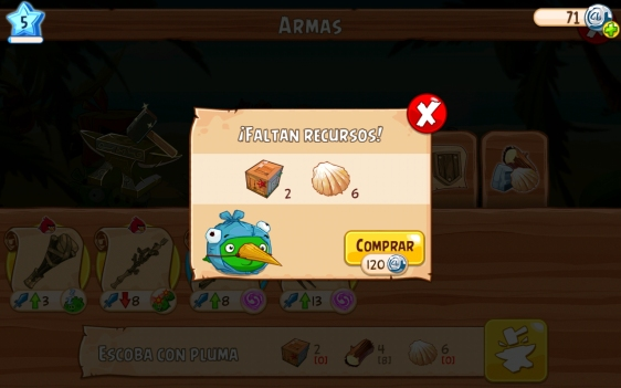 Advergame World - Aleix Risco - Rovio - Angry Birds Epic - Faltan Recursos