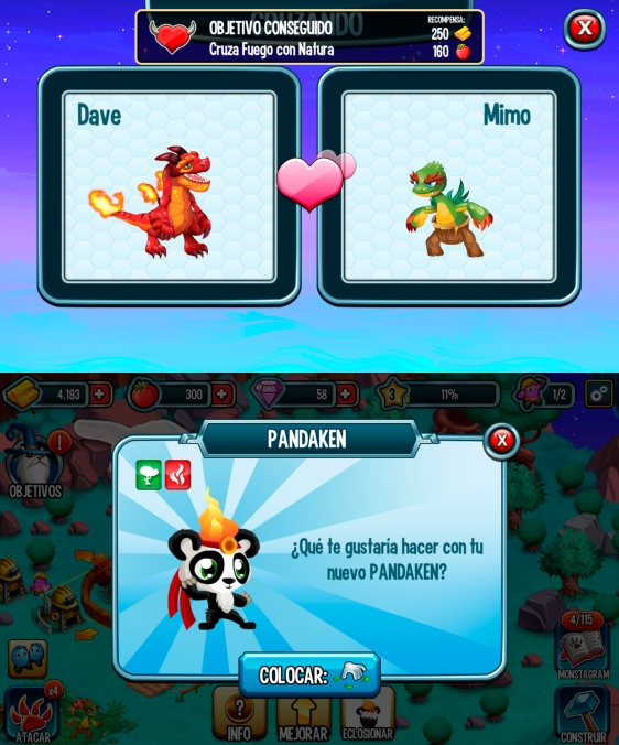 Advergame World - Aleix Risco - Social Point - Monster Legends - Crianza Pandaken