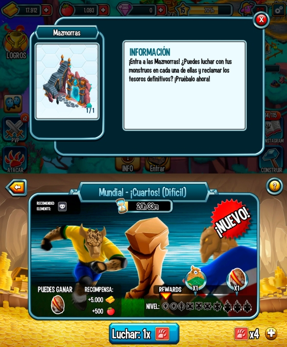 Advergame World - Aleix Risco - Social Point - Monster Legends - Mazmorra