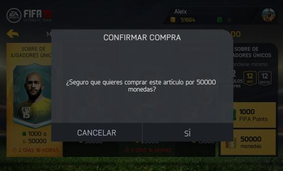 Advergame World - Aleix Risco - FIFA 15 Ultimate Team - Sobres Destacao Jugadores Comprar