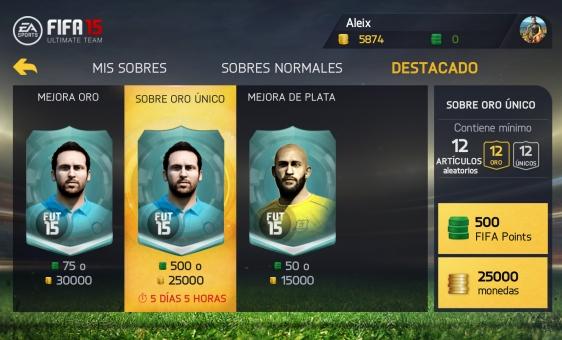 Advergame World - Aleix Risco - FIFA 15 Ultimate Team - Sobres Destacao Jugadores I