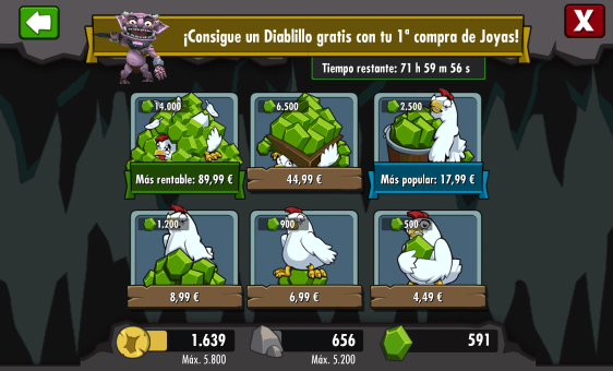 Advergame World - Aleix Risco - Monetización - Tienda Virtual - Dungeon Keeper
