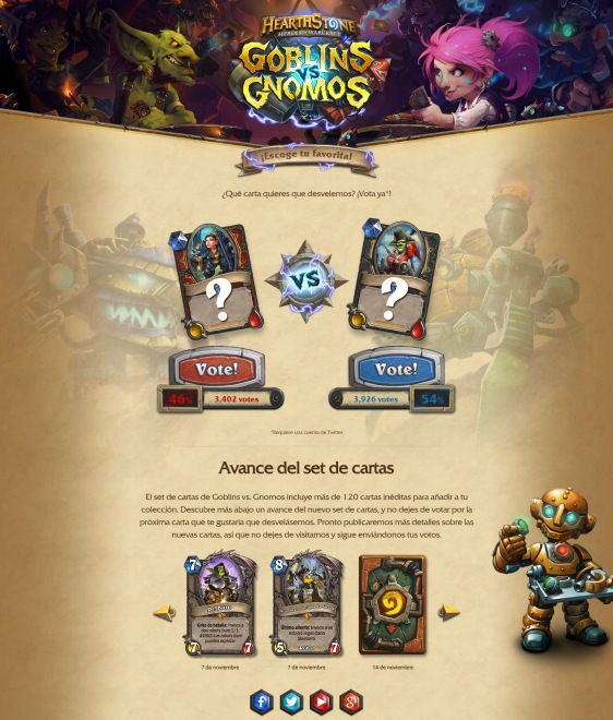 Advergame World - Aleix Risco - Advergame - Blizzard - HearthStone - Goblins vs Gnomos - Retención II