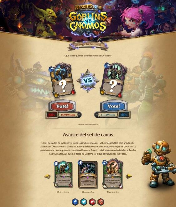 Advergame World - Aleix Risco - Advergame - Blizzard - HearthStone - Goblins vs Gnomos - Retención