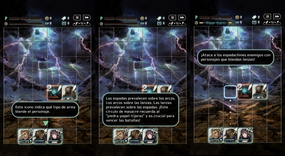 Advergame World - Aleix Risco - Terra Battle - Tutorial - Combate - Armas